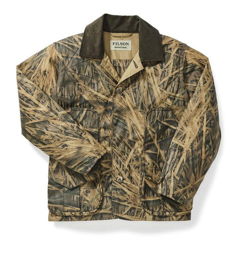 Filson MEN - OUTERWEAR - JACKETS Filson, Mossy Oak Shelter Cloth Waterfowl/Upland Coat, Shadow Grass