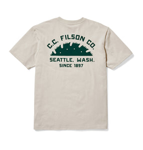 Filson MEN - SHIRTS - SHORT SLEEVE T-SHIRTS Filson, Outfitter Graphic T-Shirt, Pebble Gray