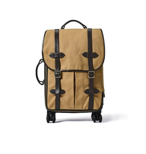 Filson ACCESSORIES - TRAVEL - DUFFEL BAG Filson, Rugged Twill Rolling 4-Wheel Carry-On Bag, Tan