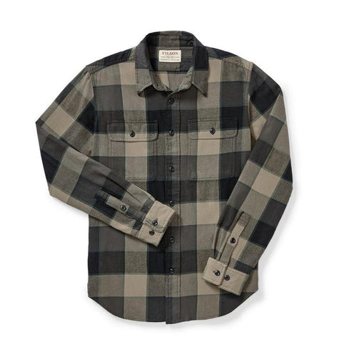 Filson MEN - SHIRTS - BUTTON DOWNS Filson, Scout Shirt, Gray/Green/Tan