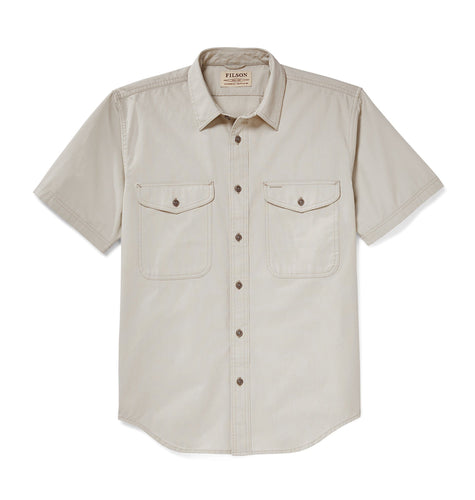 Filson SALE Filson, Short Sleeve Field Shirt, Gray Sky