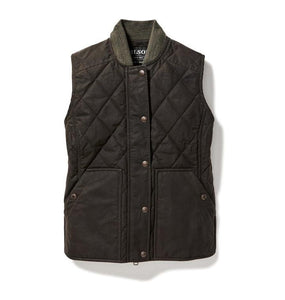 Filson WOMEN - VESTS Filson, Women's Quilted Field Vest, Brown
