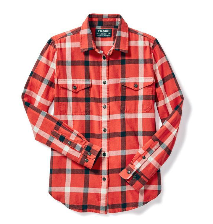 Filson WOMEN - SHIRTS - BLOUSES Filson, Women's Scout Shirt, Red/Black/Cream