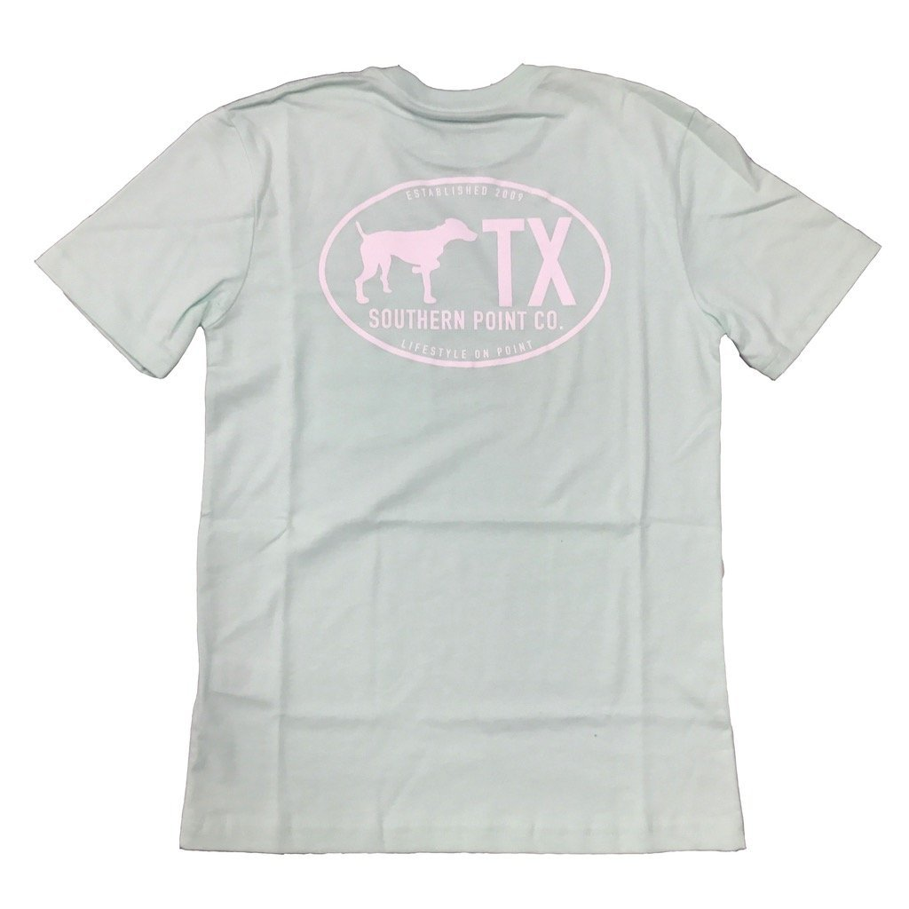 Southern Point Co SALE Green / XS Southern Point, Youth Texas State Line T-Shirt, Seafoam