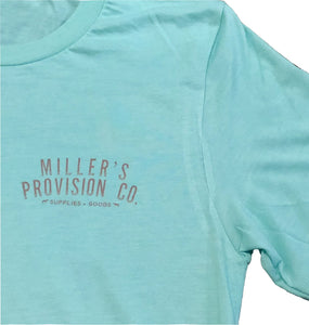 Miller's Provision Co. SALE Green / XXL Miller's Provision Co., Floral Pointer Short Sleeve T-Shirt, Mint