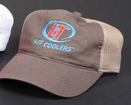 Lit Coolers SALE Lit Coolers, Hat Mesh Brown/Tan
