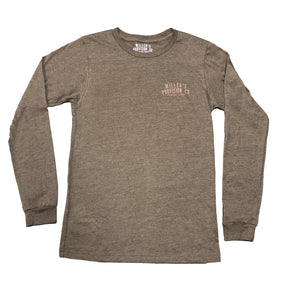 Miller's Provision Co. MEN - SHIRTS - LONG SLEEVE T-SHIRTS Miller's Provision Co., Catch of The Day Long Sleeve T-Shirt, Heather Brown