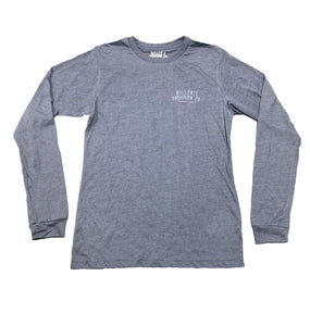 Miller's Provision Co. MEN - SHIRTS - LONG SLEEVE T-SHIRTS Miller's Provision Co., Fresh Pork Long Sleeve T-Shirt, Heather Slate
