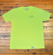 Load image into Gallery viewer, Miller's Provision Co. MEN - SHIRTS - SHORT SLEEVE T-SHIRTS Miller's Provision Co., Mountain Sunset Short Sleeve T-Shirt, Neon Yellow