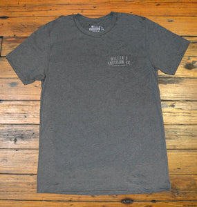 Miller's Provision Co. MEN - SHIRTS - SHORT SLEEVE T-SHIRTS Miller's Provision Co., Old School Camo Pointer Short Sleeve T-Shirt, Deep Heather Gray