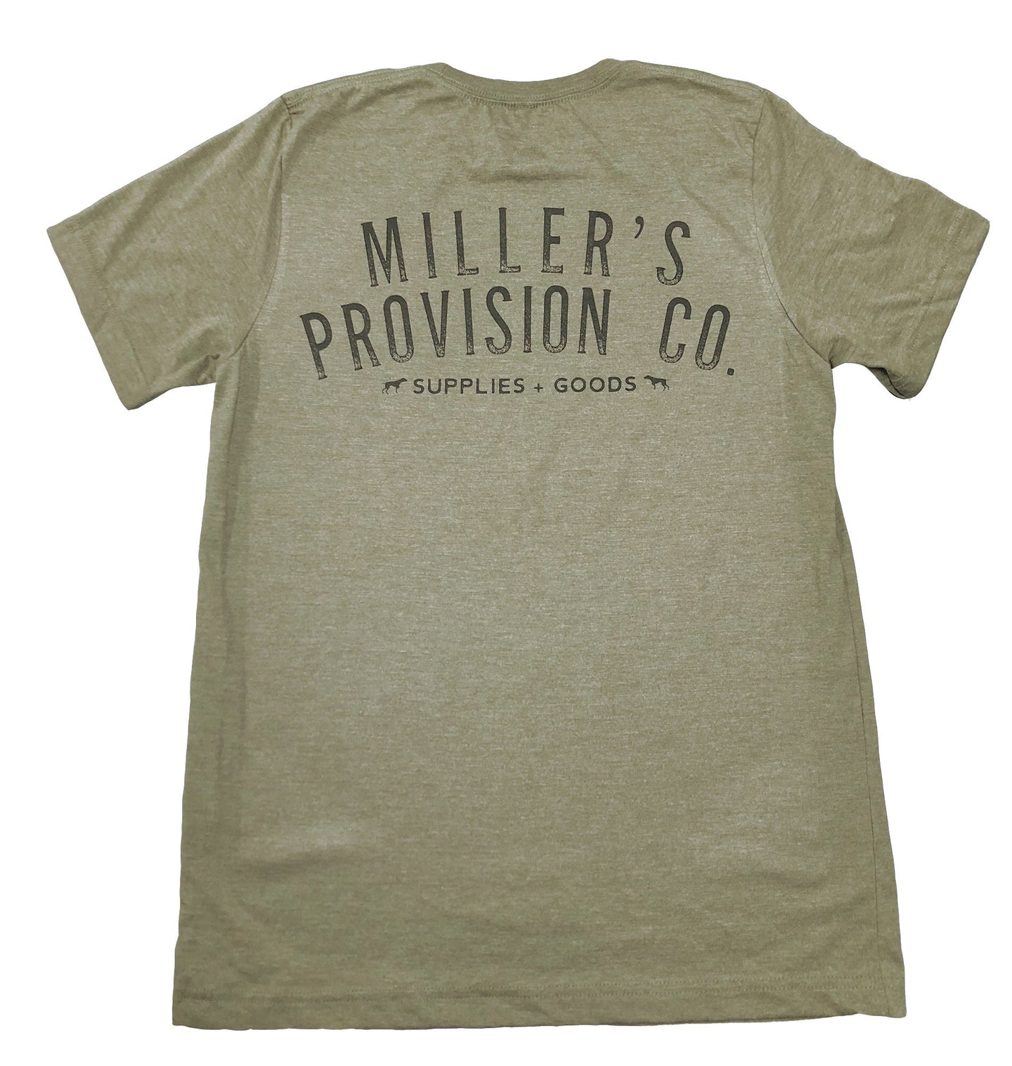 Miller's Provision Co. MEN - SHIRTS - SHORT SLEEVE T-SHIRTS Miller's Provision Co., Original Logo T-Shirt, Army Green
