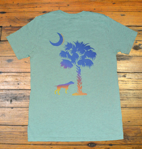 Miller's Provision Co. MEN - SHIRTS - SHORT SLEEVE T-SHIRTS Miller's Provision Co., Palmetto Moon Short Sleeve T-Shirt, Heather Mint
