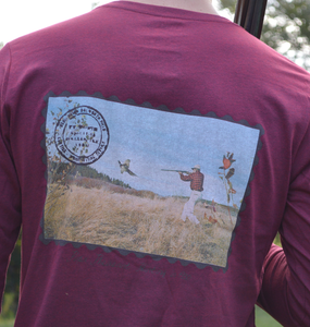 Miller's Provision Co. MEN - SHIRTS - LONG SLEEVE T-SHIRTS Miller's Provision Co., Tales From The Field Long Sleeve, Heather Cardinal