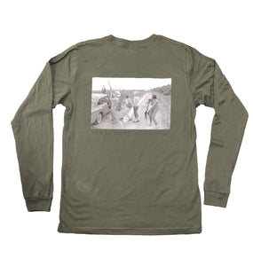 Miller's Provision Co. MEN - SHIRTS - LONG SLEEVE T-SHIRTS Miller's Provision Co., Texas Dove Hunt 1961 Long Sleeve T-Shirt, Military Green