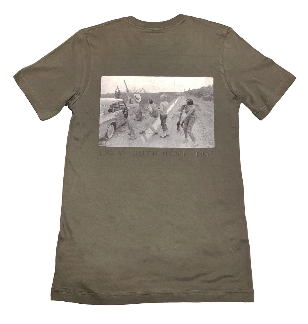 Miller's Provision Co. MEN - SHIRTS - SHORT SLEEVE T-SHIRTS Miller's Provision Co., Texas Dove Hunt 1961 Short Sleeve T-Shirt, Military Green