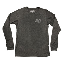 Miller's Provision Co. MEN - SHIRTS - LONG SLEEVE T-SHIRTS Miller's Provision Co., The Upland Signature Series Long Sleeve T-Shirt - Number Three, Dark Gray Heather