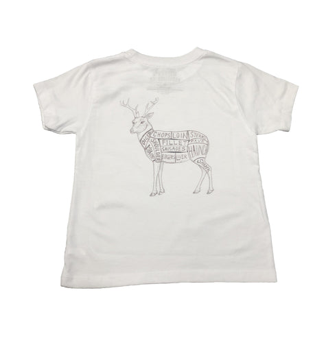Miller's Provision Co. KIDS - BOYS - T-SHIRTS Miller's Provision Co., Youth Cuts of Venison T-Shirt, White