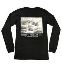 Load image into Gallery viewer, Miller's Provision Co. KIDS - BOYS - T-SHIRTS Miller's Provision Co., Youth Dog Days of Duck Season Long Sleeve T-Shirt, Black