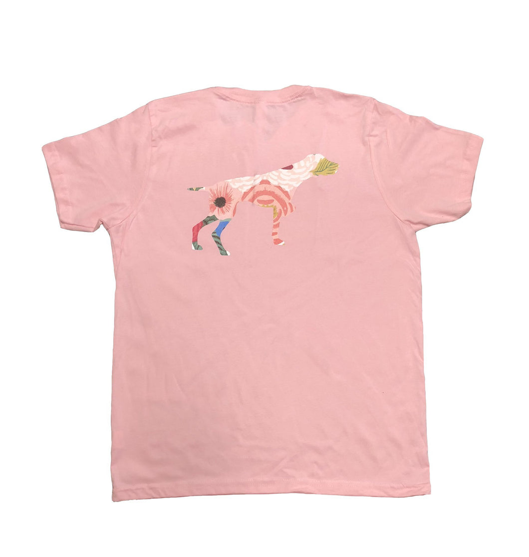 Miller's Provision Co. KIDS - GIRLS - T-SHIRTS Miller's Provision Co., Youth Floral Pointer T-Shirt, Pink