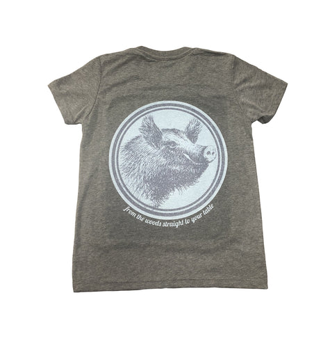 Miller's Provision Co. KIDS - BOYS - T-SHIRTS Miller's Provision Co., Youth Fresh Pork T-Shirt, Deep Heather Gray