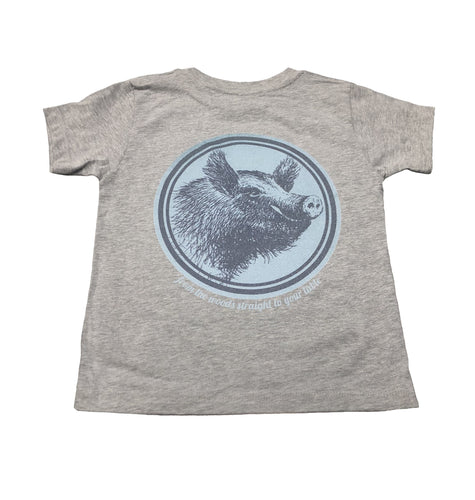 Miller's Provision Co. KIDS - BOYS - T-SHIRTS Miller's Provision Co., Youth Fresh Pork T-Shirt, Heather Stone