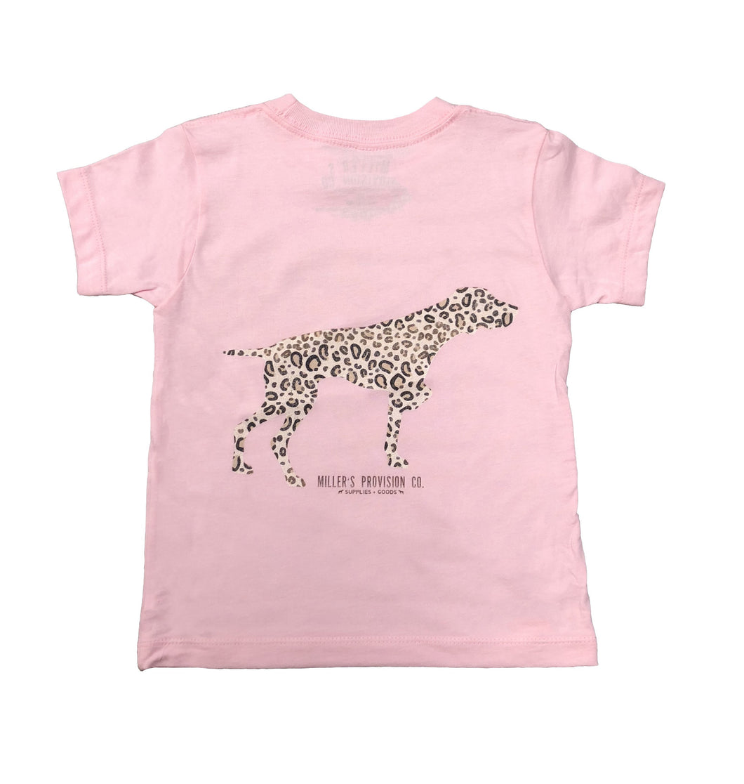 Miller's Provision Co. KIDS - GIRLS - T-SHIRTS Miller's Provision Co., Youth Leopard Pointer T-Shirt, Pink