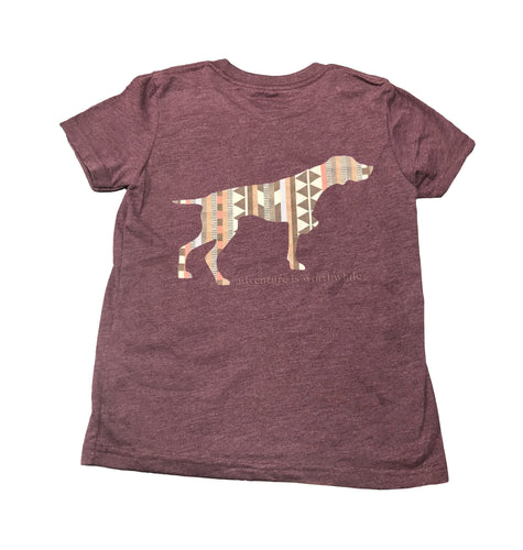 Miller's Provision Co. KIDS - GIRLS - T-SHIRTS Miller's Provision Co., Youth Native Pointer T-Shirt, Heather Maroon