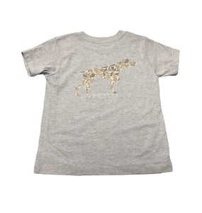 Miller's Provision Co. KIDS - BOYS - T-SHIRTS Miller's Provision Co., Youth Old School Camo Pointer T-Shirt, Heather Stone
