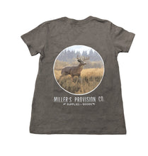 Load image into Gallery viewer, Miller's Provision Co. KIDS - BOYS - T-SHIRTS Miller's Provision Co., Youth Thrill of The Hunt T-Shirt, Asphalt