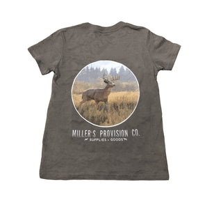 Miller's Provision Co. KIDS - BOYS - T-SHIRTS Miller's Provision Co., Youth Thrill of The Hunt T-Shirt, Asphalt