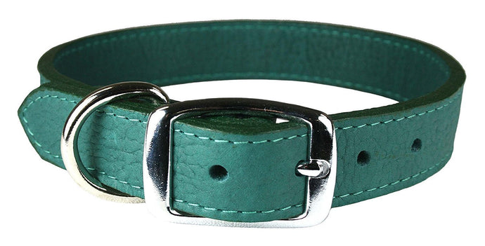 Miller's Provision Co. FIELDDOG - DOG - DOG COLLAR Miller's Provsion Co., Luxury Leather Dog Collar, Jade