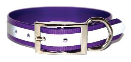 Miller's Provision Co. FIELDDOG - DOG - DOG COLLAR Miller's Provsion Co., Reflective Stripe Dog Collar, Purple