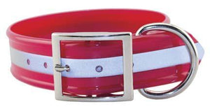 Miller's Provision Co. FIELDDOG - DOG - DOG COLLAR Miller's Provsion Co, Reflective Stripe Dog Collar, Red