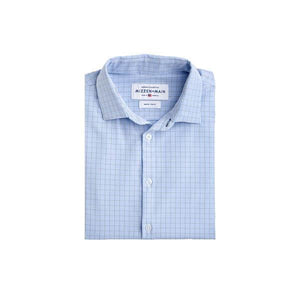Mizzen & Main MEN - SHIRTS - BUTTON DOWNS Mizzen & Main, Davis, Navy and Light Blue Plaid