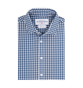 Mizzen & Main MEN - SHIRTS - BUTTON DOWNS Mizzen & Main, Hamilton - Trim Fit, Patriot Blue White Gingham