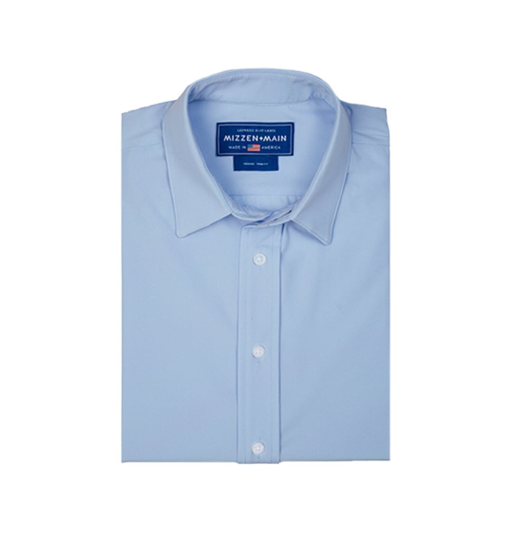 Mizzen & Main MEN - SHIRTS - BUTTON DOWNS Mizzen & Main, Nelson Trim Fit, Solid Blue
