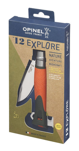 Opinel FIELDDOG - HUNTING - TOOLS Opinel, N 12 Explore Survival Knive with Orange Handle
