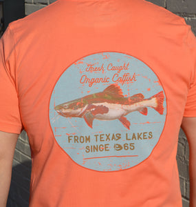 Miller's Provision Co. MEN - SHIRTS - SHORT SLEEVE T-SHIRTS Orange / XXL Miller's Provision Co., Fresh Catfish T-Shirt, Orange
