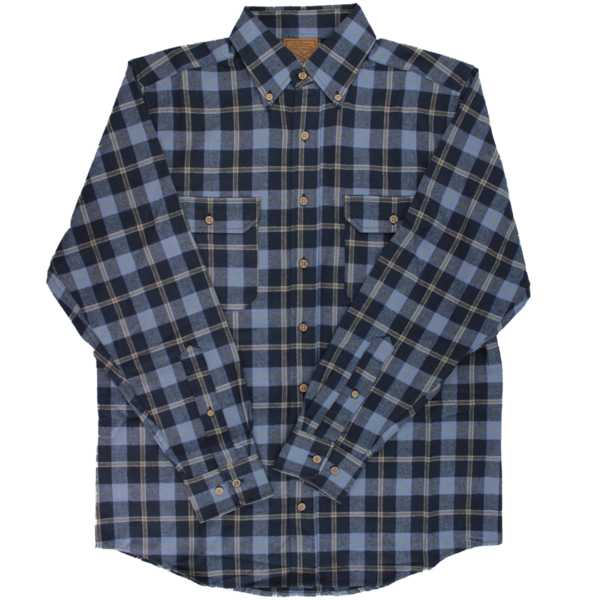 Over Under Clothing MEN - SHIRTS - DRESS SHIRTS Over Under Clothing, The Crosscut Flannel Shirt, Canyon Blue