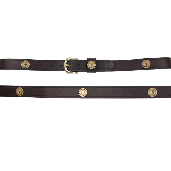 Over Under Clothing ACCESSORIES - BELTS - LEATHER Over & Under, Multi Shot Belt, Brown