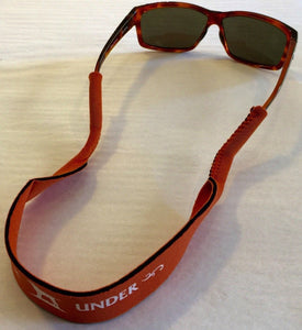 Over Under Clothing ACCESSORIES - SUNGLASS STRAPS Over & Under, Sunglass Straps, Chums Orange