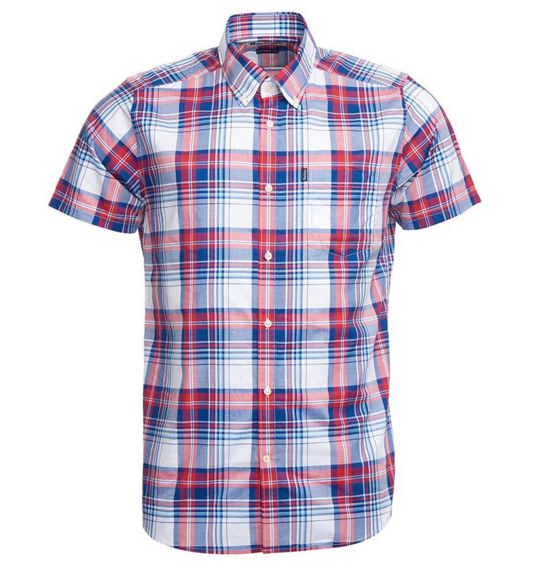 Barbour, Gerald Short Sleeve Tailored Shirt, Red
