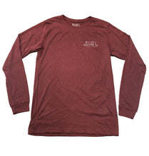 Load image into Gallery viewer, Miller's Provision Co. MEN - SHIRTS - LONG SLEEVE T-SHIRTS Red / XXL Miller's Provision Co., Tales From The Field Long Sleeve T-Shirt, Heather Cardinal