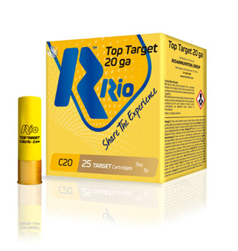 Rio Ammunition Ammo Rio Ammunition, Top Target 20 TT20, 20ga, 1 Box (25 Rounds)