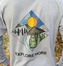 Load image into Gallery viewer, Miller's Provision Co. MEN - SHIRTS - LONG SLEEVE T-SHIRTS S Miller's Provision Co., Explore More Long Sleeve T-Shirt, Heather Gray