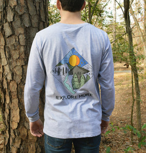 Miller's Provision Co. MEN - SHIRTS - LONG SLEEVE T-SHIRTS S Miller's Provision Co., Explore More Long Sleeve T-Shirt, Heather Gray
