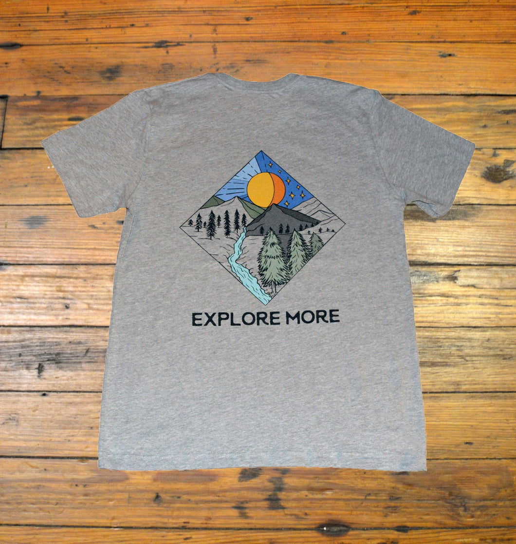 Miller's Provision Co. MEN - SHIRTS - SHORT SLEEVE T-SHIRTS S Miller's Provision Co., Explore More Short Sleeve T-Shirt, Heather Gray