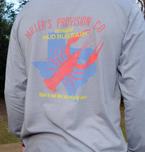 Load image into Gallery viewer, Miller's Provision Co. MEN - SHIRTS - LONG SLEEVE T-SHIRTS S Miller's Provision Co., Mud Bug Bash Long Sleeve T-Shirt, Gray