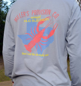 Miller's Provision Co. MEN - SHIRTS - LONG SLEEVE T-SHIRTS S Miller's Provision Co., Mud Bug Bash Long Sleeve T-Shirt, Gray