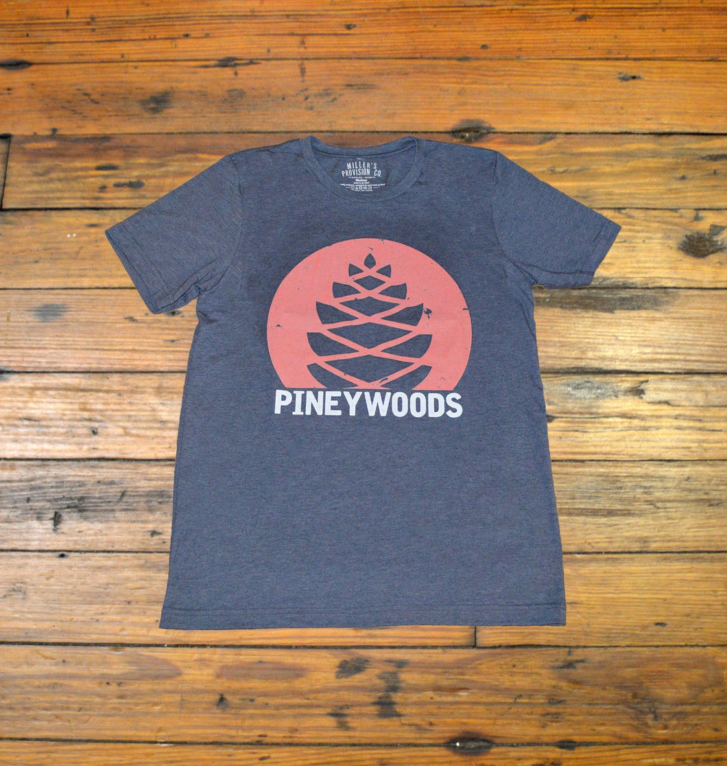 Miller's Provision Co. MEN - SHIRTS - SHORT SLEEVE T-SHIRTS S Miller's Provision Co., Pineywoods Short Sleeve T-Shirt, Heather Navy
